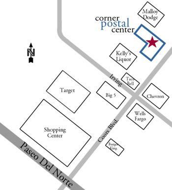 Corner Postal Center Location